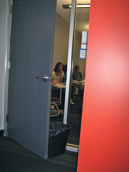 Door Propped Open : Learning spaces